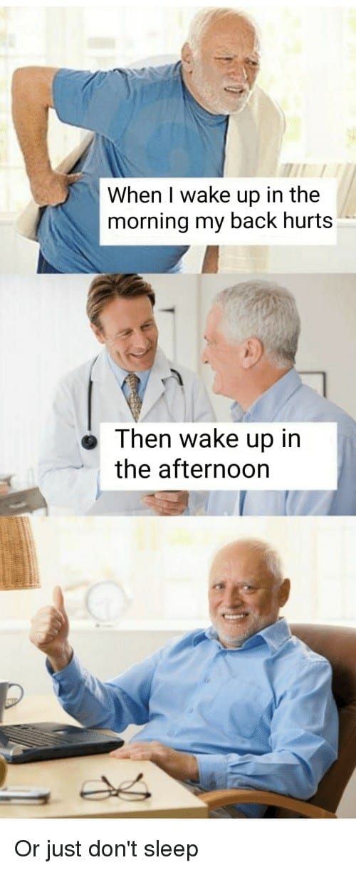 My back hurts doctor